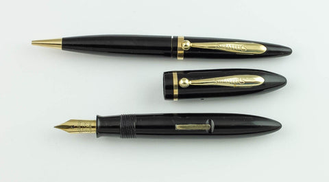 Sheaffer, Balance Petite Fountain Pen & Pencil Set, Black w/Gold Fill Trim - VP4728