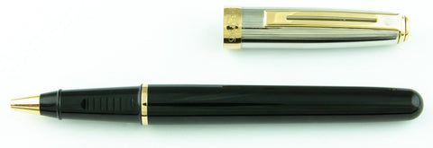 Sheaffer, Prelude Rollerball Pen, Black w/Palladium Cap & Gold Plated Trim - GU363-PR