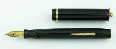 Sheaffer, 3-25 Ring Top Fountain Pen, Black Radite w/Gold fill Trim - VP4741