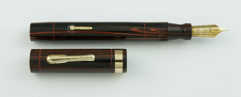 Conklin, Endura Sr. Fountain Pen, Woodgrain Hard Rubber w/Gold fill Trim - VP4657