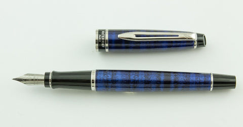 Waterman, Expert Fountain Pen, Dune Blue w/Chrome Plated Trim - GU351-PR