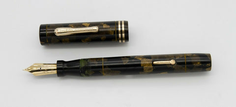 Conklin, Endura Sr. Fountain Pen, Black & Bronze w/Gold fill Trim - VP4862