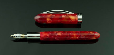 Visconti, Luigi Special Edition Fountain Pen, Red w/Chrome Plated Trim