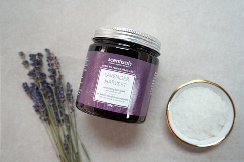 jiyubox scentuals lavender harvest bath soak