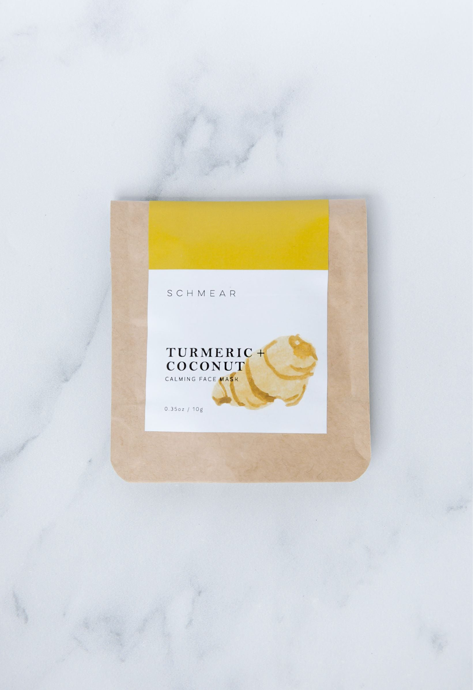 fall jiyubox skincare - schmearnaturals turmeric + coconut calming face mask
