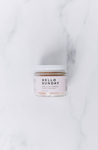 hello sunday vitamin facial mask