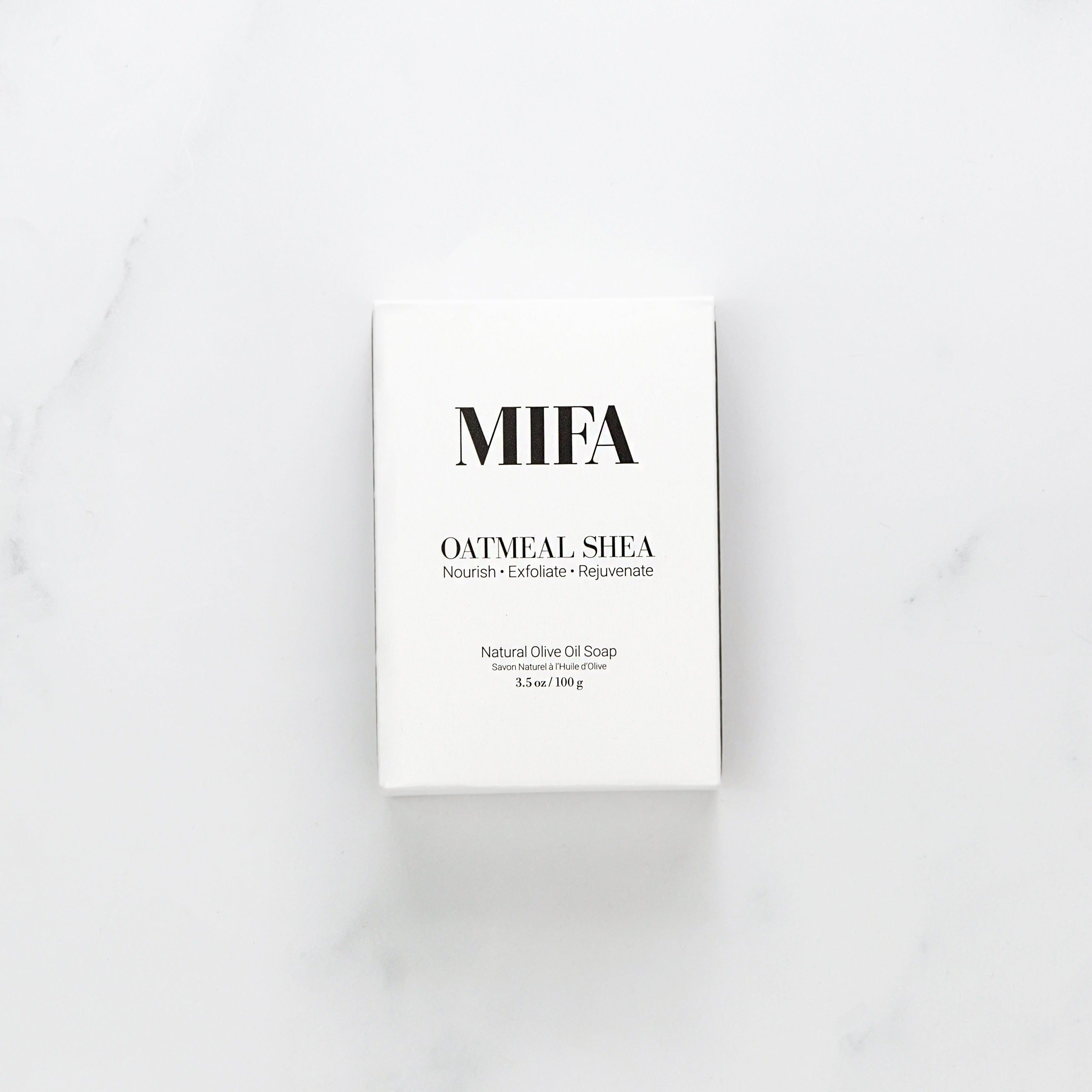 Jiyubox: Oatmeal Shea Olive Oil Soap Bar by MIFA and Co