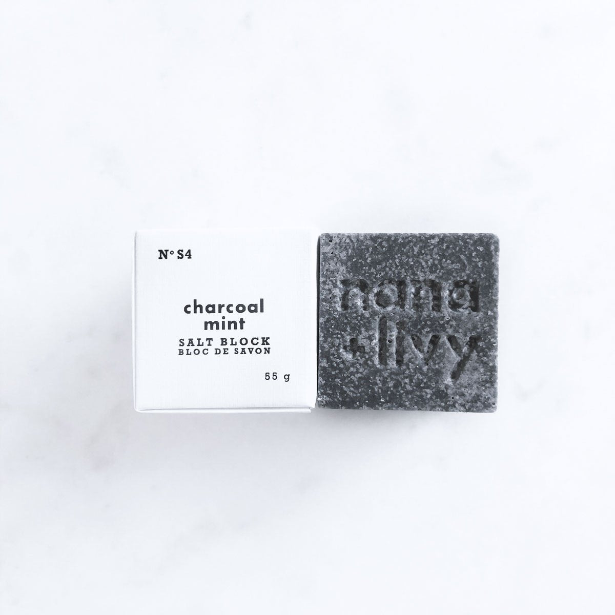 Charcoal Mint Salt Block