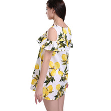Mommy & Me - Lemon Print Off-Shoulder Dress