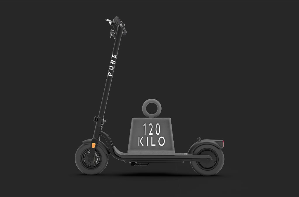 pure air electric scooter weight