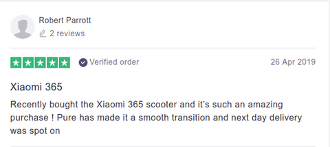 Pure Scooter Customer Review