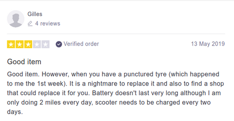 Pure Scooters Customer Review