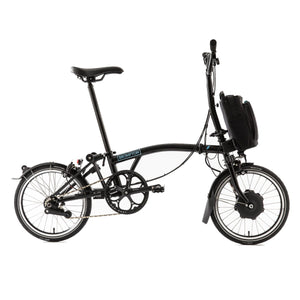 Brompton M6L 2 Speed Electric Folding Bike with Essential Bag - 2020 Black