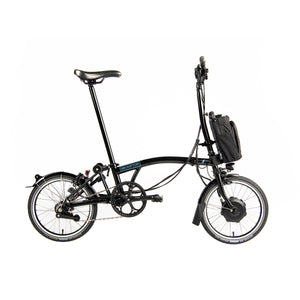 Brompton H6L Electric Folding Bike with Essential Bag in black