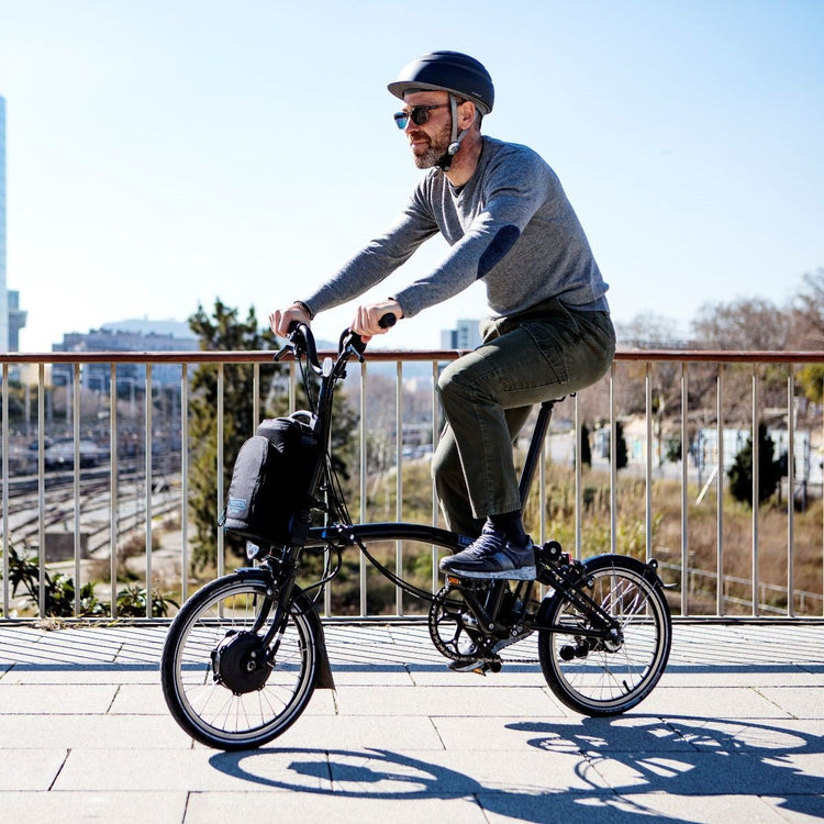 Brompton M6L 2 Speed Electric Folding Bike with Essential Bag - 2020