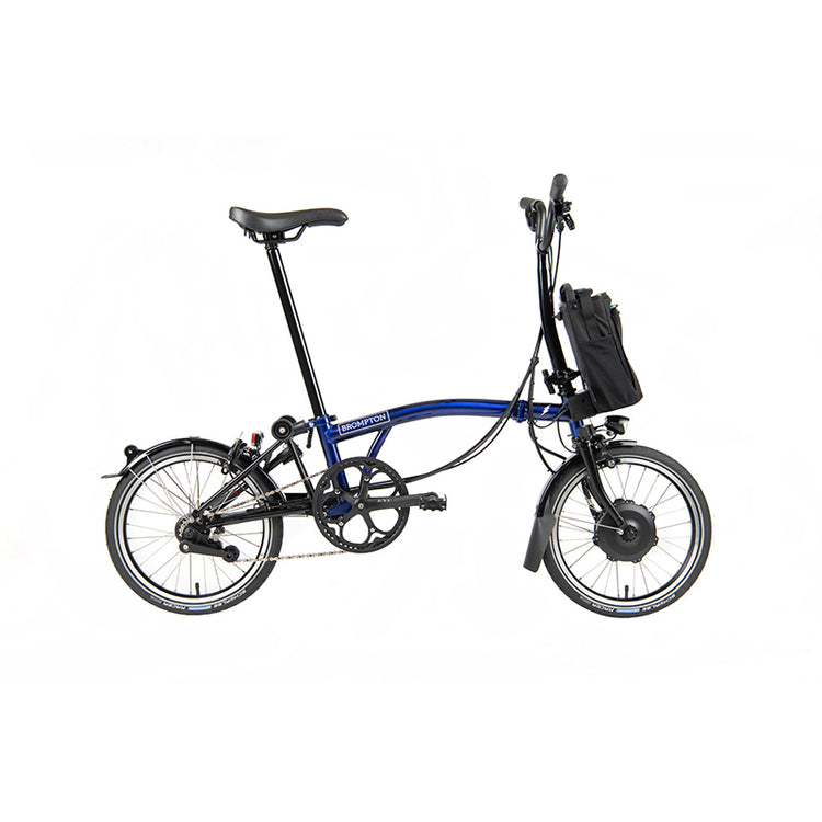 Brompton M6L 2 Speed Electric Folding Bike with Essential Bag - 2020 Blue