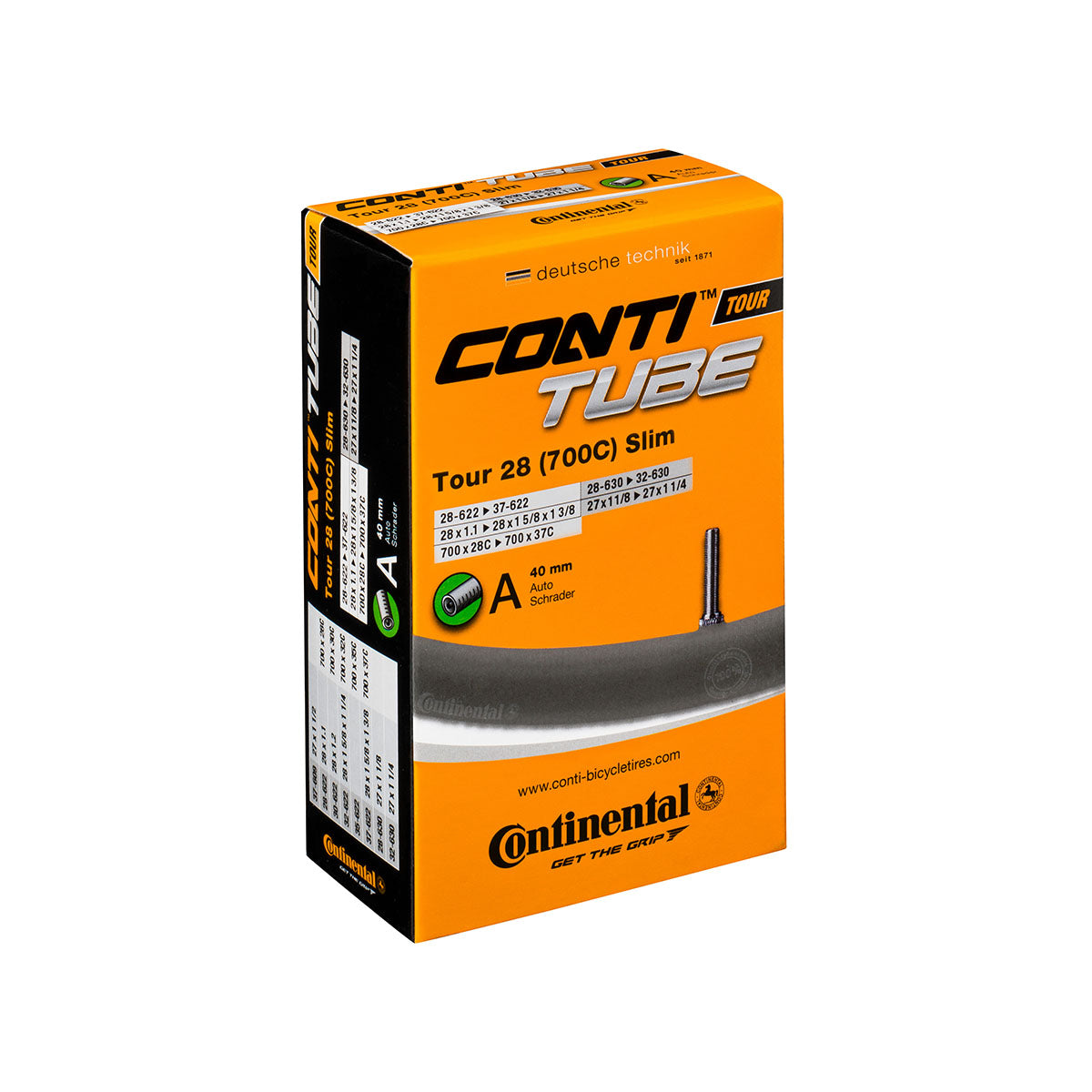 Continental Tour 28 Slim Tube 700 X 28 - 37C 42mm Presta Valve Inner Tube