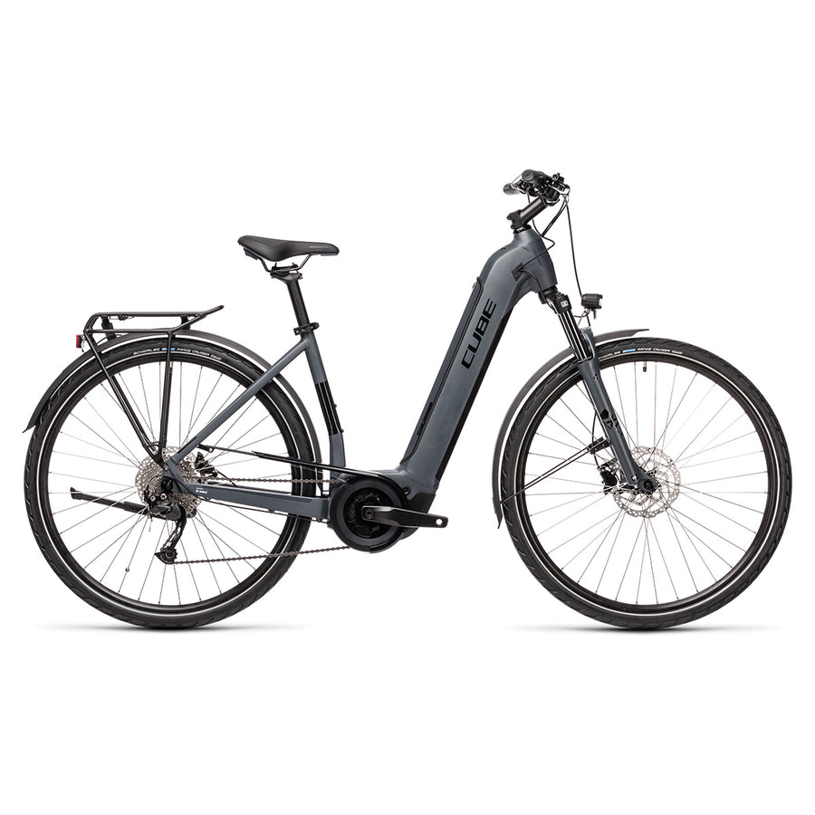 Cube Touring Hybrid One 500 EE Electric Hybrid Bike - 2021 Grey