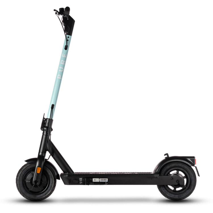 pure air pro electric scooter with mint green stem wrap