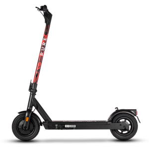 pure air pro electric scooter with red camo stem wrap