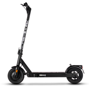 pure air pro electric scooter with grey camo stem wrap