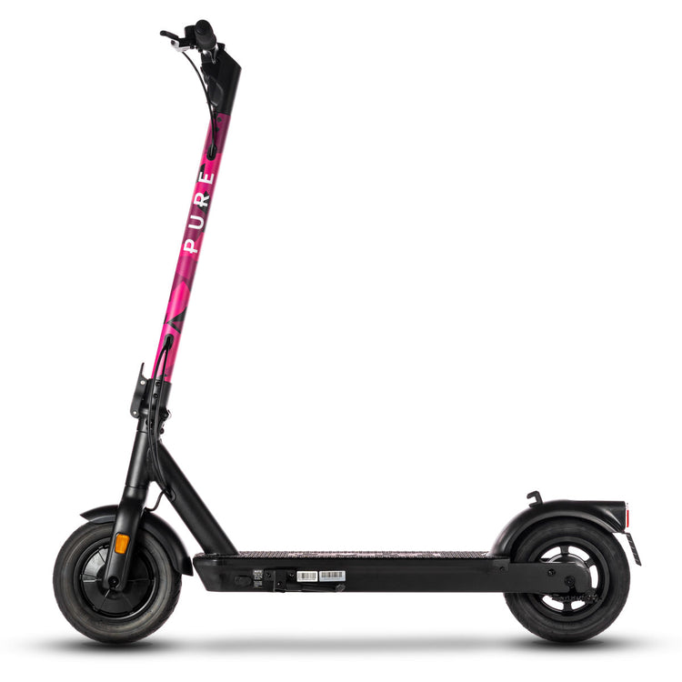 pure air pro electric scooter with pink camo stem wrap