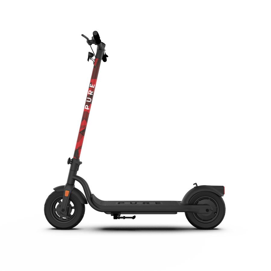 Pure Air Electric Scooter Graphics Kit - Red Camo