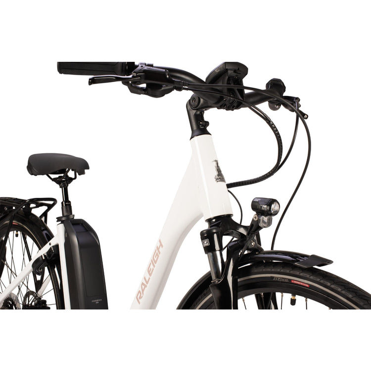 Raleigh Motus Tour Lowstep Derailleur Electric Hybrid Bike - 2021 White