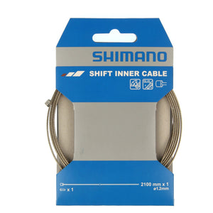 Shimano Road / MTB Stainless Steel Gear Inner Wire - 1.2mm x 2100mm - Single