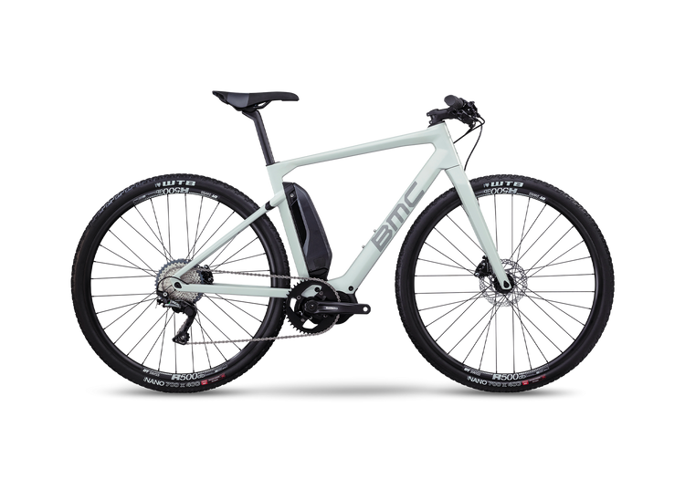 BMC Alpenchallenge AMP Cross One Hybrid Electric Bike - 2020 Light grey