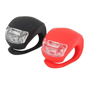 ETC Mini Bright Silicon 2 LED Front and Rear Bike Light Twinpack
