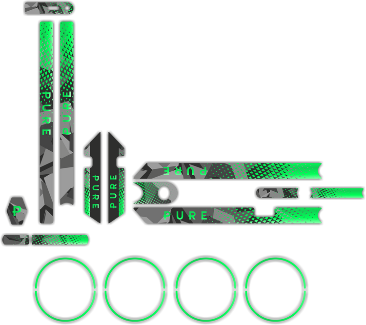 Fluorescent Camo Sticker Kit