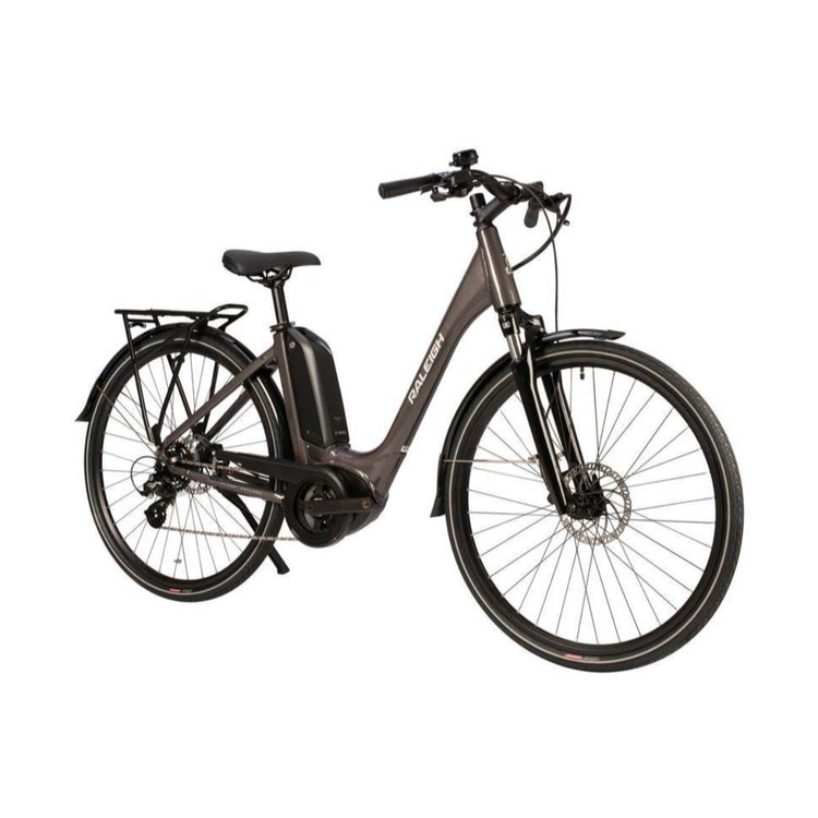 raleigh motus lowstep 2020 electric hybrid bike grey