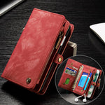 Samsung Wallet Case Premium Zipper Leather Purse with Detachable Flip Magnetic Cover 10 Credit Card Slots