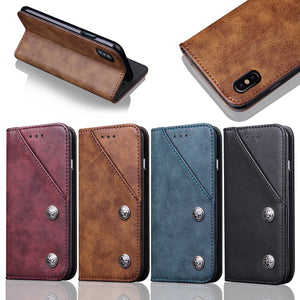 Multifunction Leather Wallet Phone Case for Samsung S8 S9 Plus Note 8 Note 9