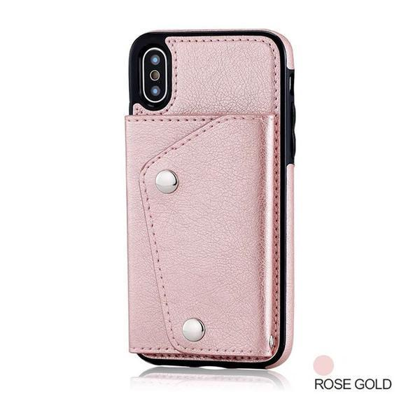 b0bfd682f2256e Wallet Flip PU Leather Case For iPhone 6 6S 7 8 Plus iPhone X XS Max ...