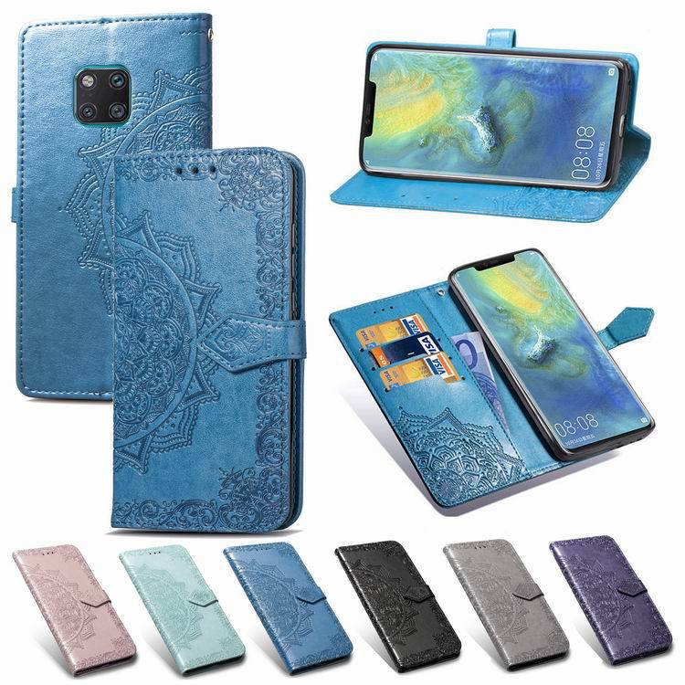 Curved Flower Leather Phone Case for Huawei Mate 20 Pro Lite