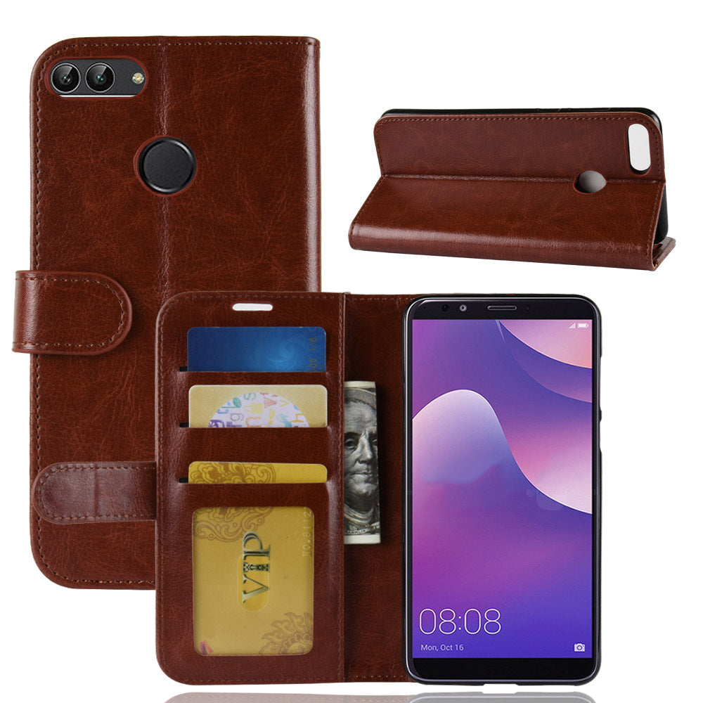 Wallet  Card Holder Leather Flip Back Phone Case For Huawei Mate20 Lite Pro Nova 3i Honor 10 Y9 Series