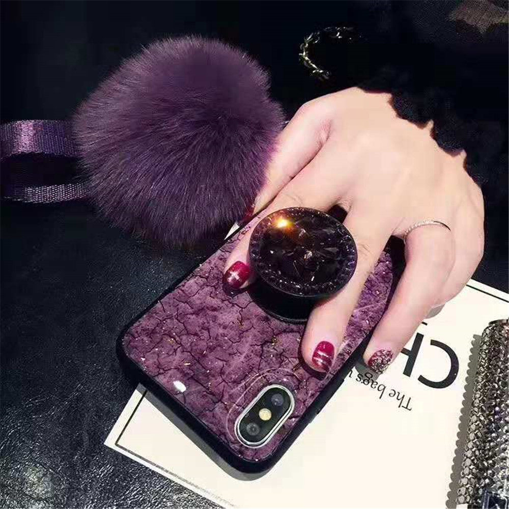 info for 09c4a 85ee7 iPhone Purple Marble phone case 6 6s 7 8 Plus X XS MAX XR Popsocket Phone  Case