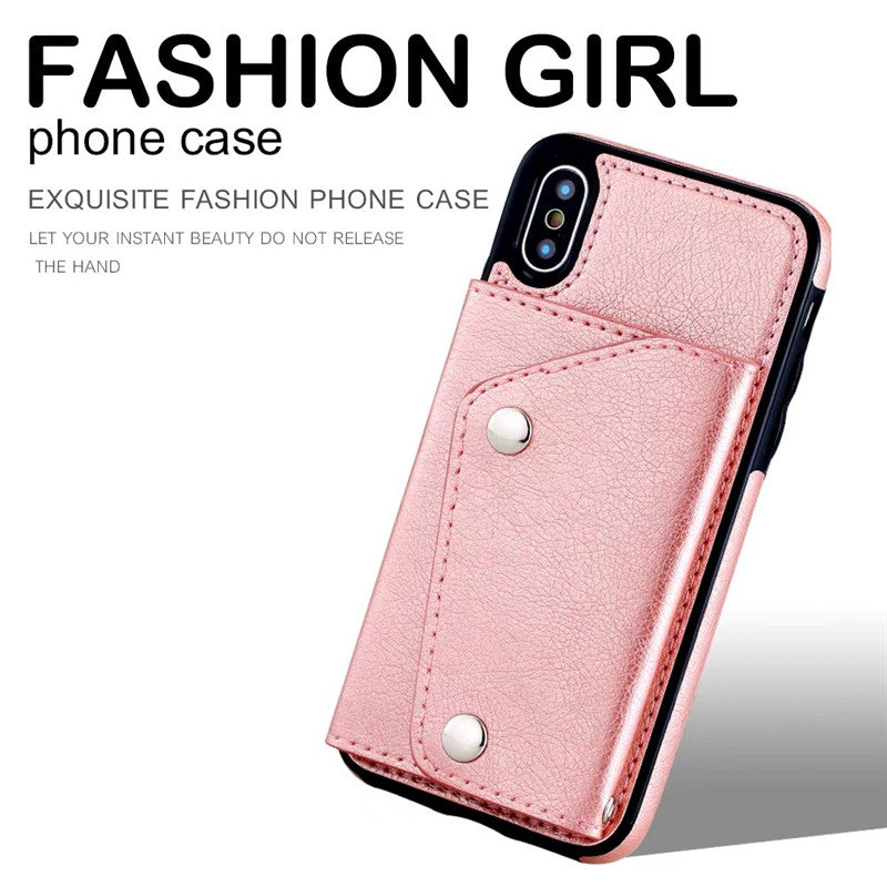 Wallet Flip PU Leather Case  For iPhone 6 6S 7 8 Plus iPhone X XS Max XR Case