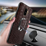 Crocodile Leather Ring Phone Case for Samsung Galaxy note8 note9 S8 S9 Plus S7 S7Edge