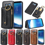 Card Slot Leather Phone Case for Samsung S6 S7 Edge S8 S9 Plus Note 8 Note 9