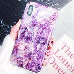 Luxury Diamond Ring Phone Fashion Marble Soft Silicon Cover Phone Case For iPhone 6 6S 7 8 Plus X