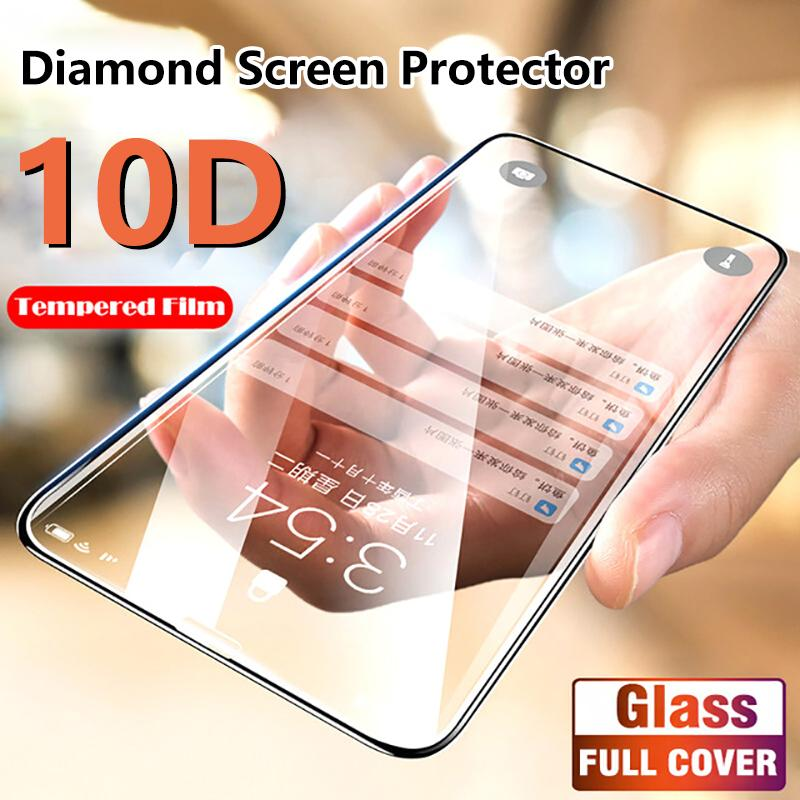 iPhone Diamond  Screen Protector Fully Covered Rubberized Tempered Film for iPhone X/XS MAX XR 6 6S 7 8 Plus