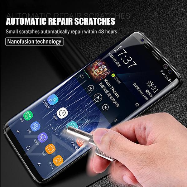 Super Smooth Film 360 Full Coverage Screen Protector for SamsungTempered Glass For Samsung Note 8 9 S7 Edge S9 A8