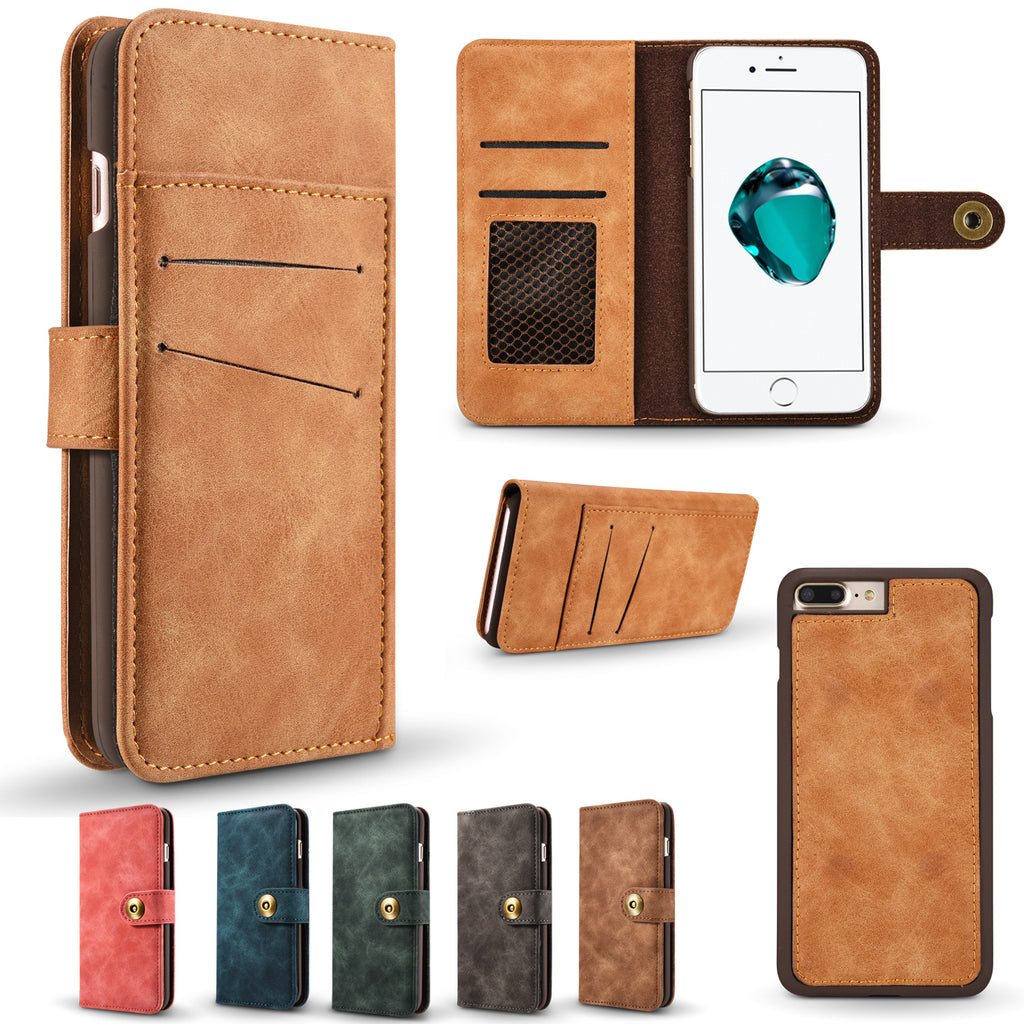 Multifunction Leather Flip Phone Case for Samsung S7 Edge S8 S9 Plus Note 8 Note 9