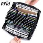 100% Genuine Leather RFID Card Holder Wallet Phone Bag Holds EVERYTHING