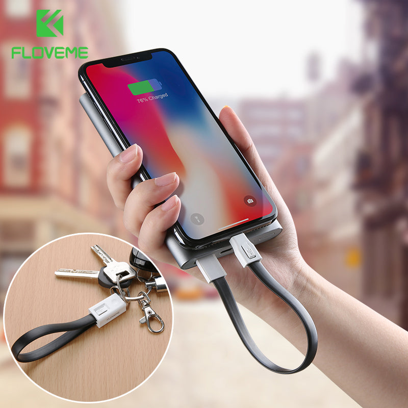 Key Chain Style OTG Phone Charging Data Transmission Cable For Apple Micro USB Type C