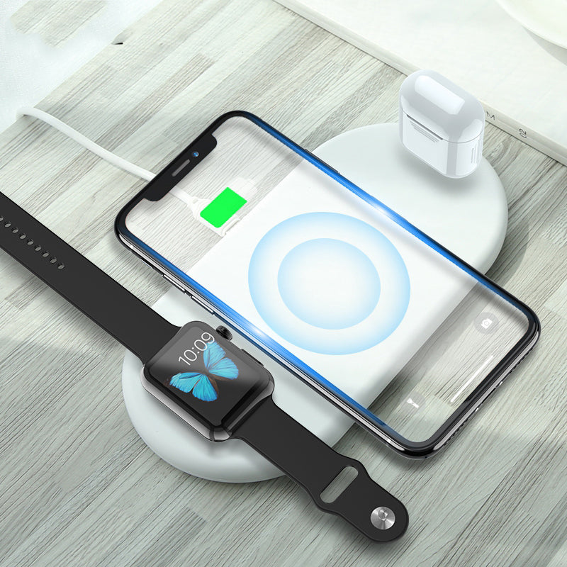 3In1 QI Wireless Charger For iPhone 8 X Xr XS Max Watch Wireless Charger For AirPods Watch Mobile