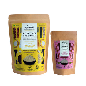 Hapup (250gm Sprouted Nutri + 80gm Sprouted Ragi) - Super Combo Pack of 2